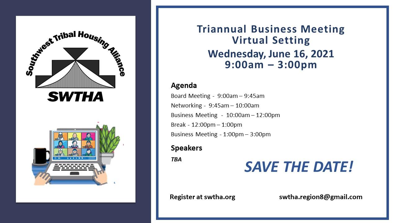 SWTHA Triannual Meeting | June 16, 2021